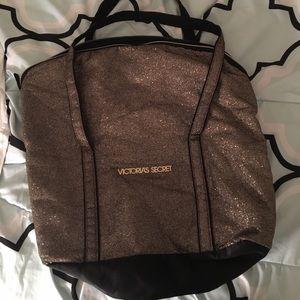 Victoria's Secret Gold Travel bag